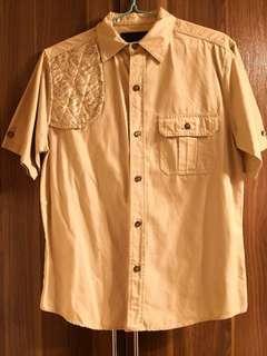 日牌 Spaz shirt size L 短袖恤衫 patchwork 拼布