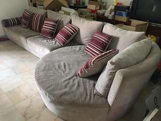 2+1 round sofa