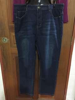 Mens Dark Washed Denim Jeans