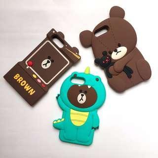 iphone 6plus 6splus 7plus 8plus line bear brown case