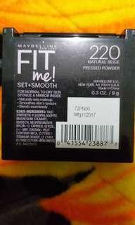 Maybelline Fit Me Pressed Powder Shade 220 / Natural Beige - set +smooth