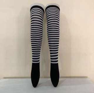 5969aeed6   CATZ   Striped Knee High Socks Thigh High Over The Knee Socks