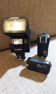 Lumix DMW·FL360 with Wireless Trigger