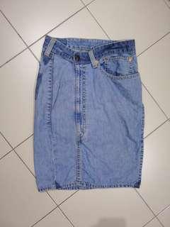 Authentic levi A-line denim skirt