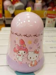 Hello Kitty bell shaped container with sticker & gummy