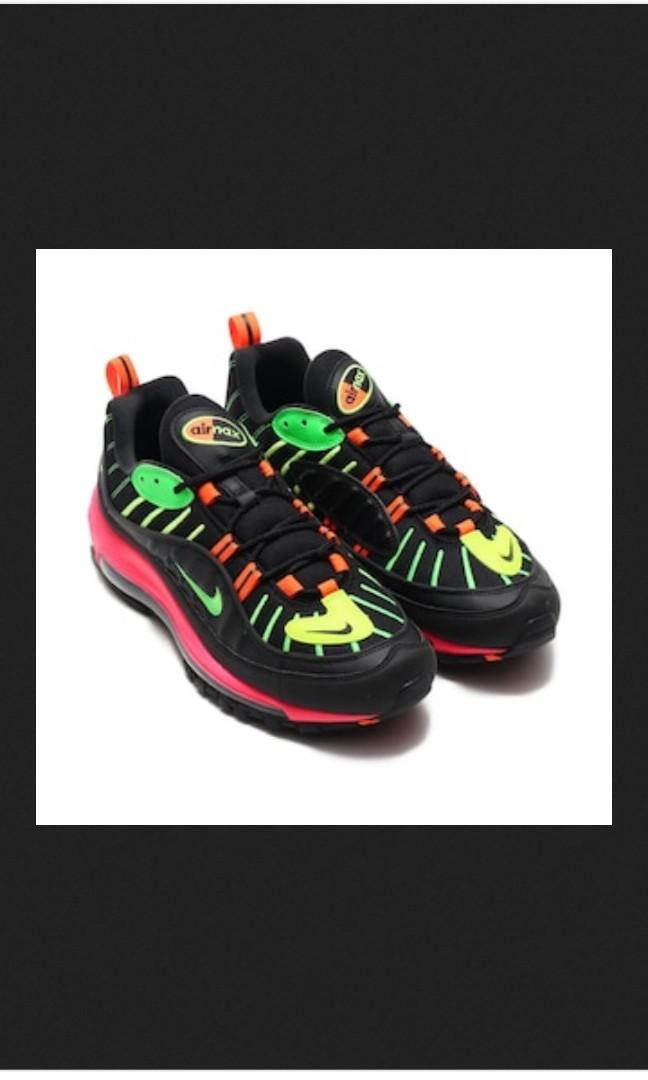 6efde34c9b AIR MAX 98 NEON BLACK GREEN STRIKE RACER PINK VOLT 19SP I, Men's Fashion,  Men's Footwear on Carousell