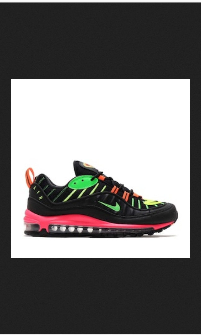 3a7c0c6aaf AIR MAX 98 NEON BLACK GREEN STRIKE RACER PINK VOLT 19SP I, Women's Fashion,  Women's Shoes on Carousell