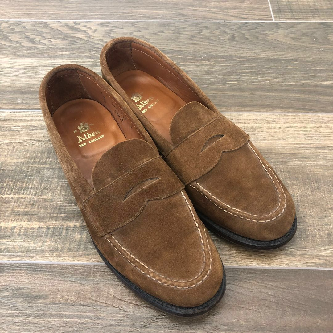 17dd3a751d1 Alden Snuff Suede Loafers Van Last Size 8B D