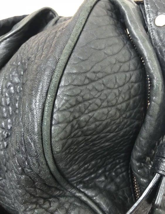 ALEXANDER WANG Rocco Rose Gold Pebbled Leather Duffle Bag