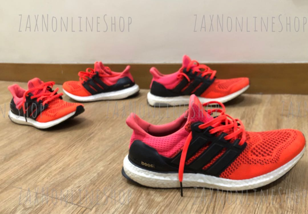 8bc9026da56d9 Authentic Adidas Ultra Boost V1 Solar Red FOR COUPLE