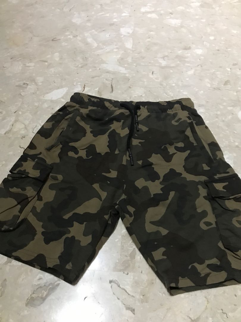 67770f9d54 Authentic BN Zara Man Camouflage Drawstring Shorts, Men's Fashion ...