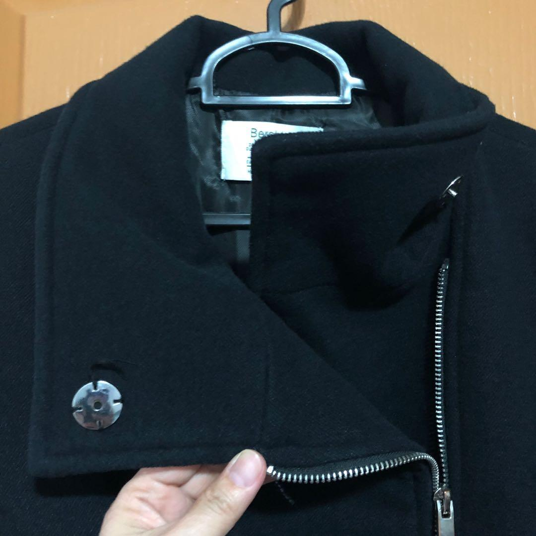 Bershka Black Coat / Winter Coat / Trench Coat