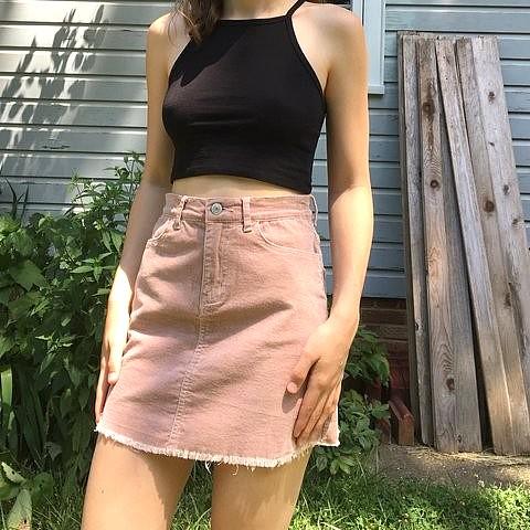 96940eb661e8 Brandy Melville Blush Pink Juliette Corduroy Skirt