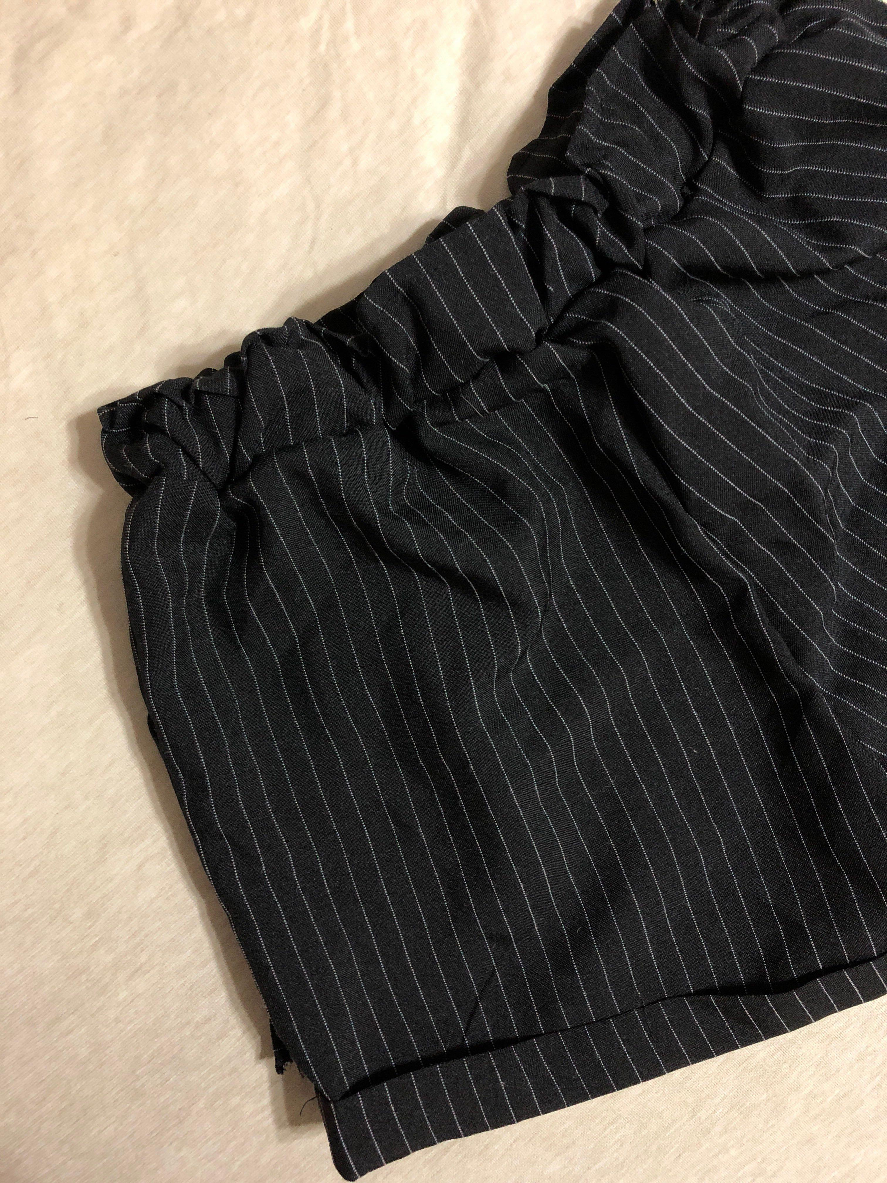 BRAND NEW Black And White Striped Shorts