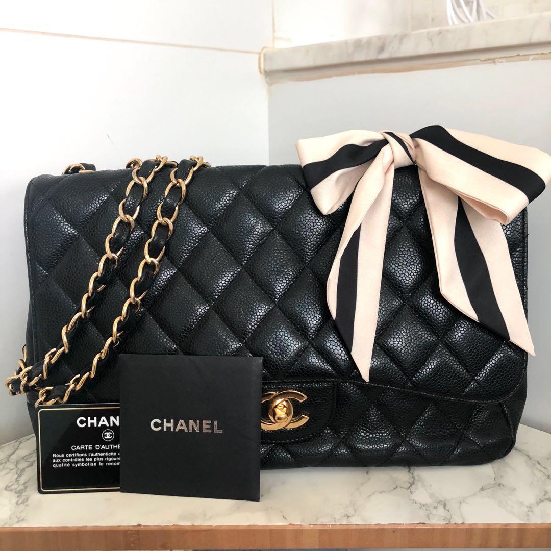 6e368a6c43ef87 Chanel Large Flap Bag, Luxury, Bags & Wallets, Handbags on Carousell