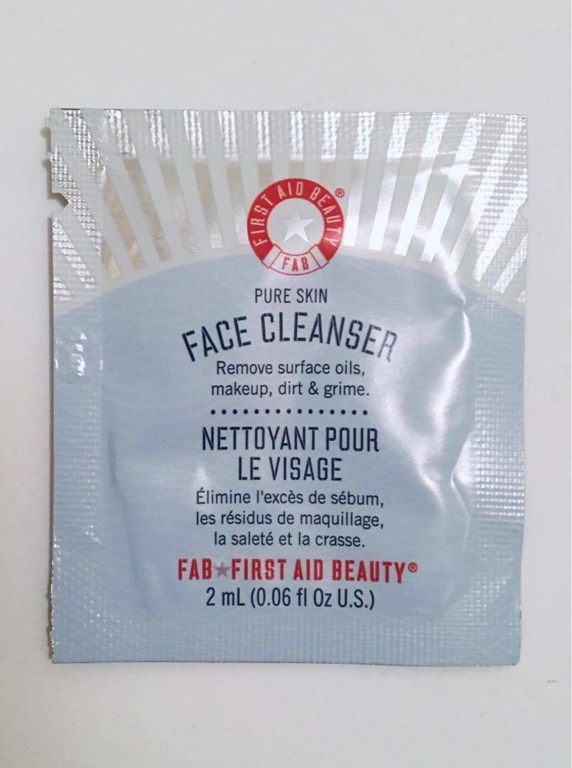 Cleanser and mask samples