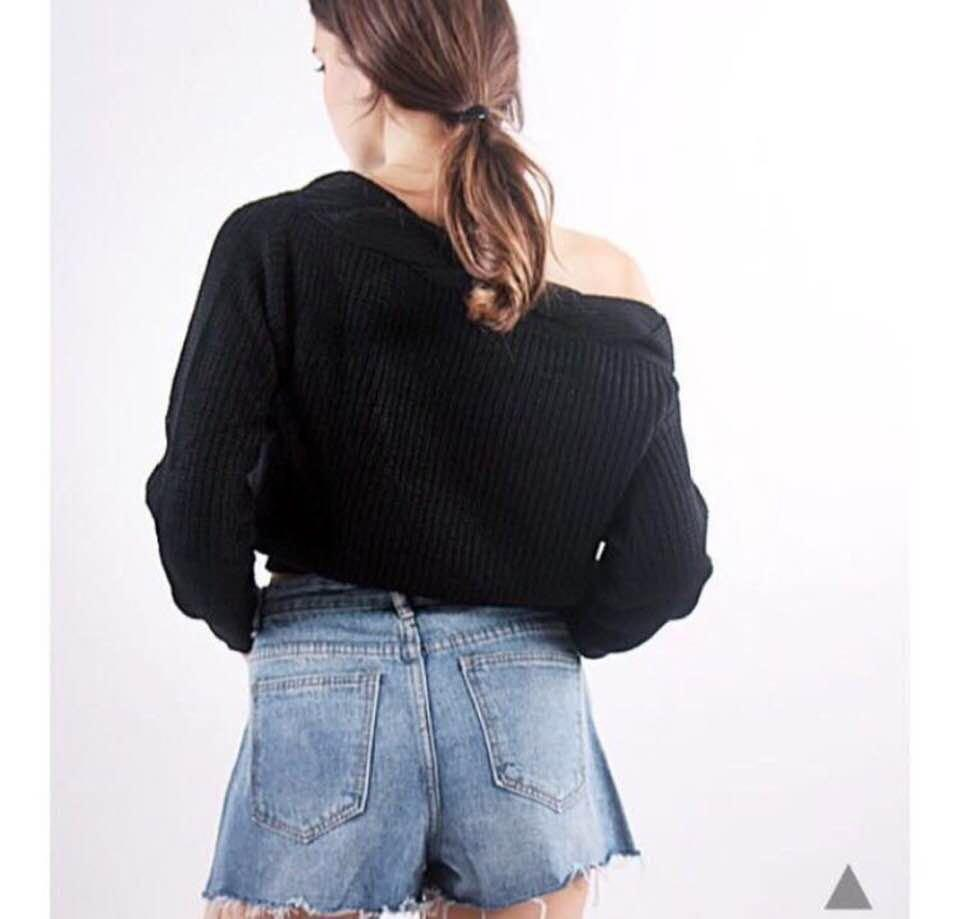 CLEARANCE SALE - BASIC DENIM RIPPED SHORTS