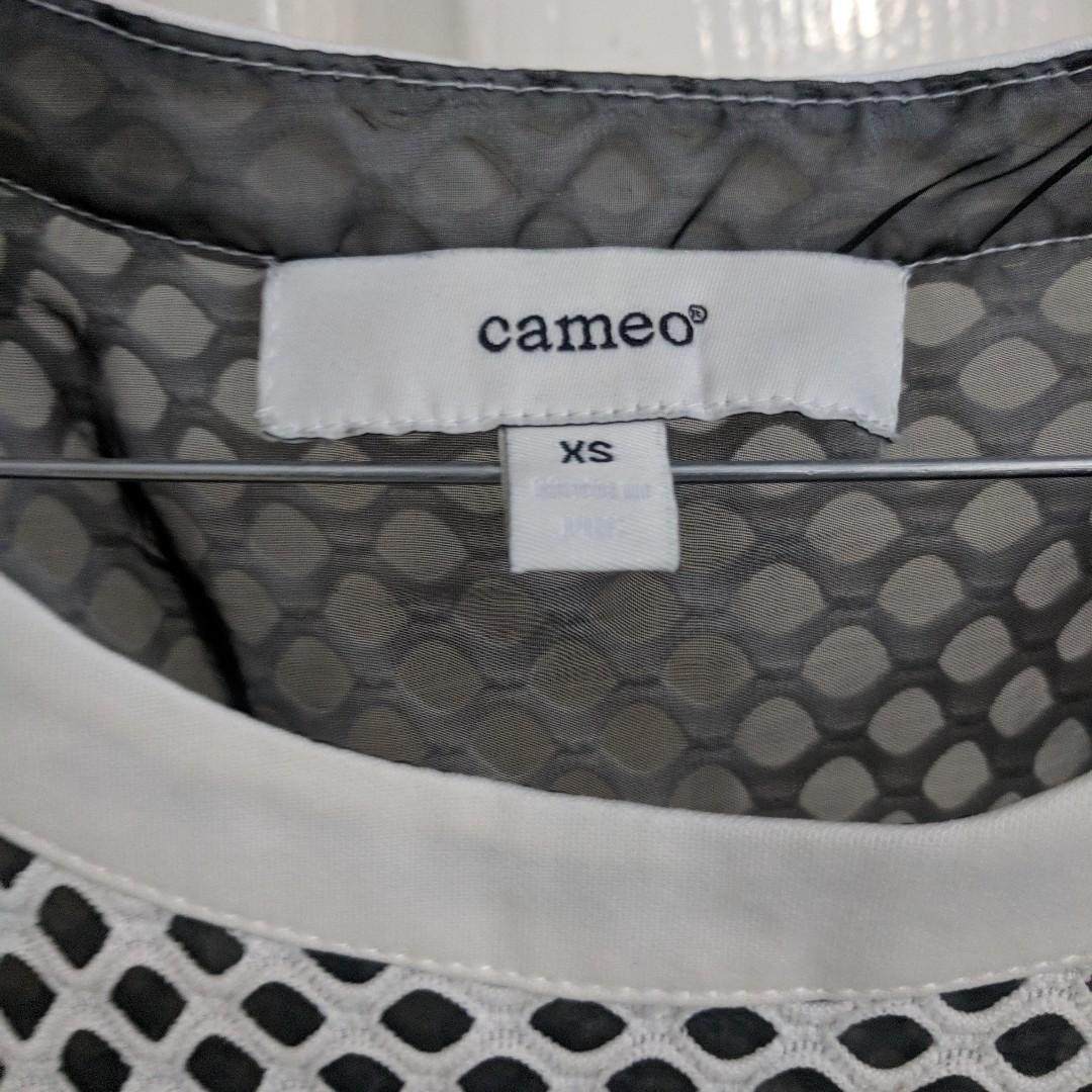 C/MEO COLLECTIVE - Mesh Shift Dress - Size XS (Cameo)
