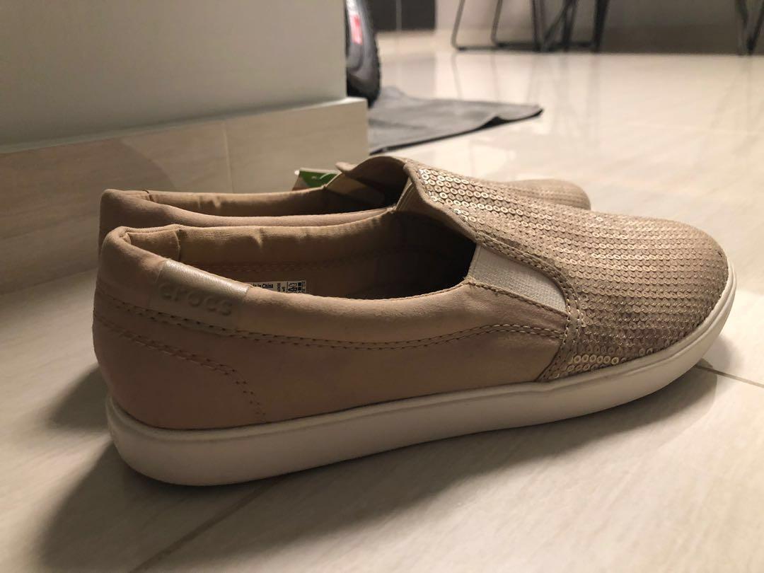 a01d5f8c4 Crocs Citilane Gold Sequin Slip-on