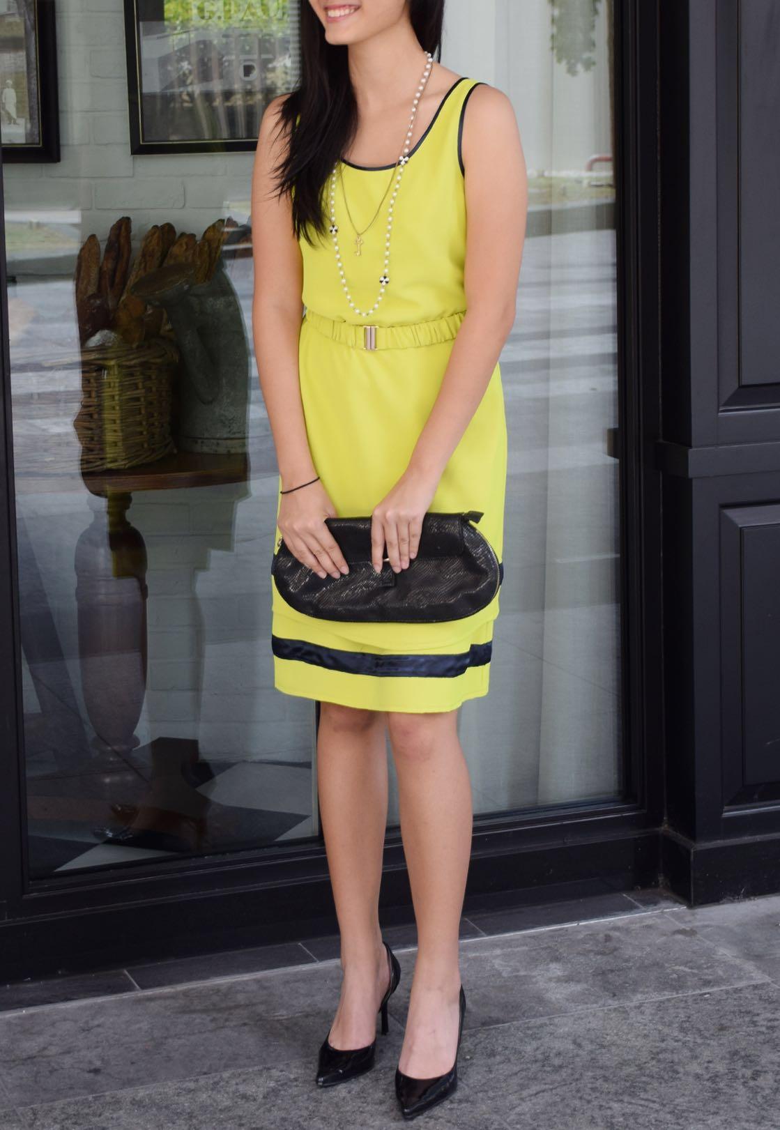 72d50768a861 Dress (SALE) - Yellow Shift Dress, Women's Fashion, Clothes, Dresses ...