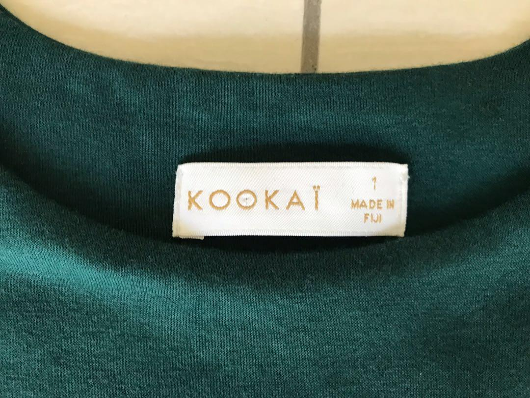EUC ✨ Deep green Melody crop top | Kookai size 1