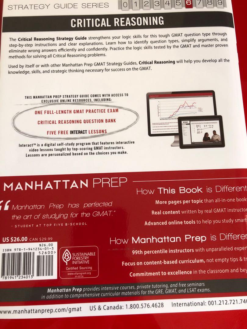 GMAT CRITICAL REASONING MANHATTAN PREP