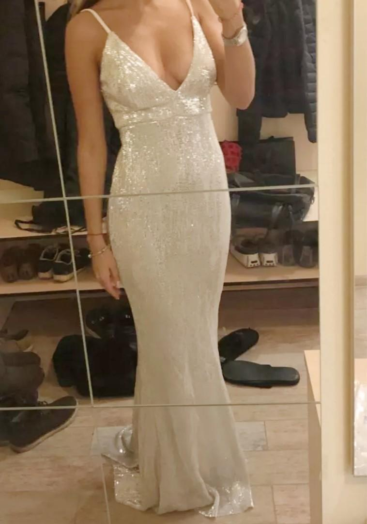 Gorgeous Silvery Gown