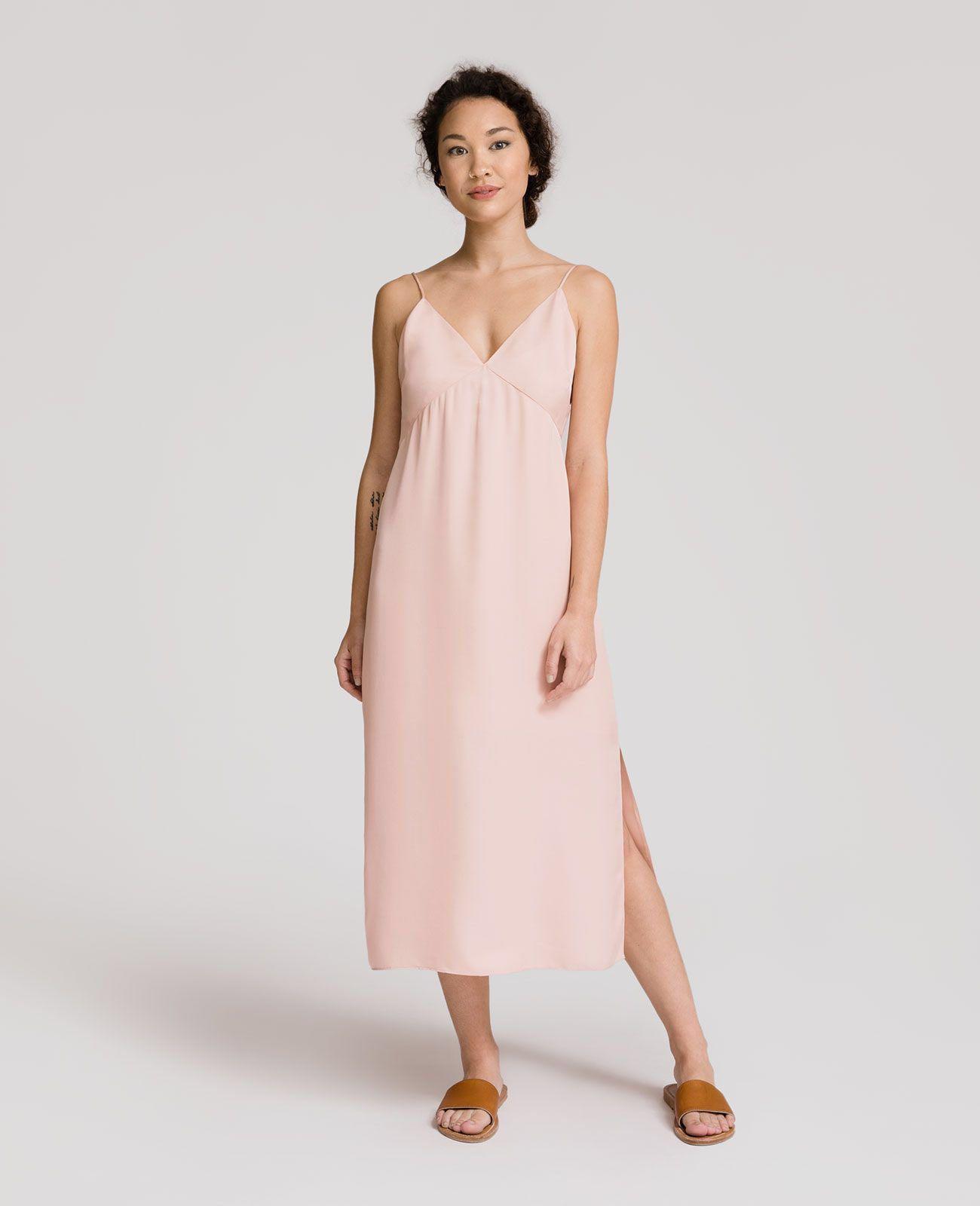 a80113949b1c Grana Silk Panelled V Neck Slip Dress, Women's Fashion, Clothes ...