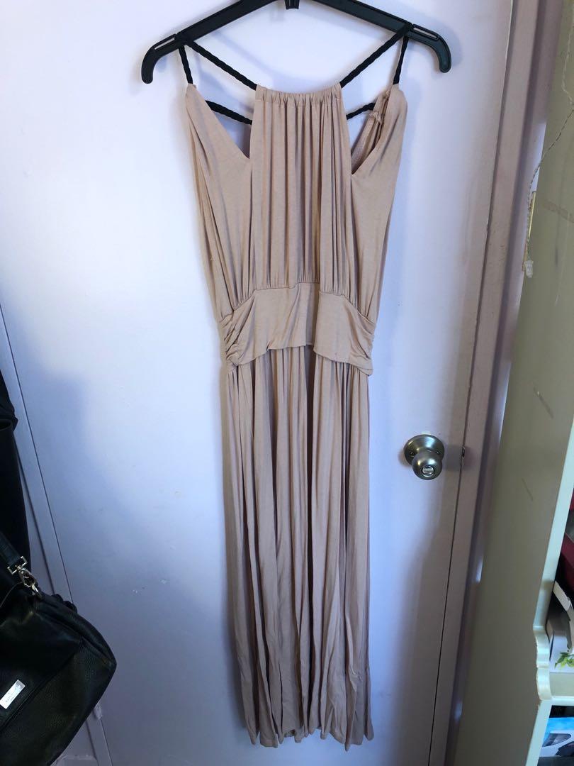 Grecian styled maxi dress