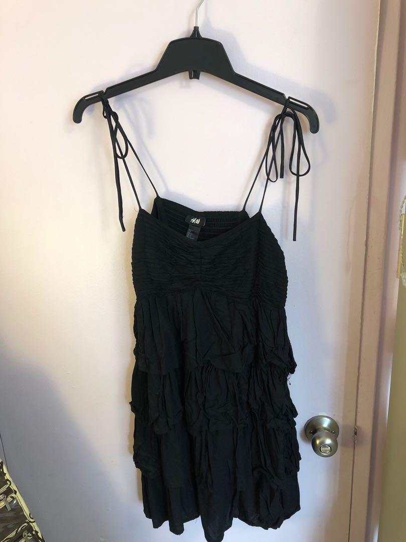H&M black mini dress