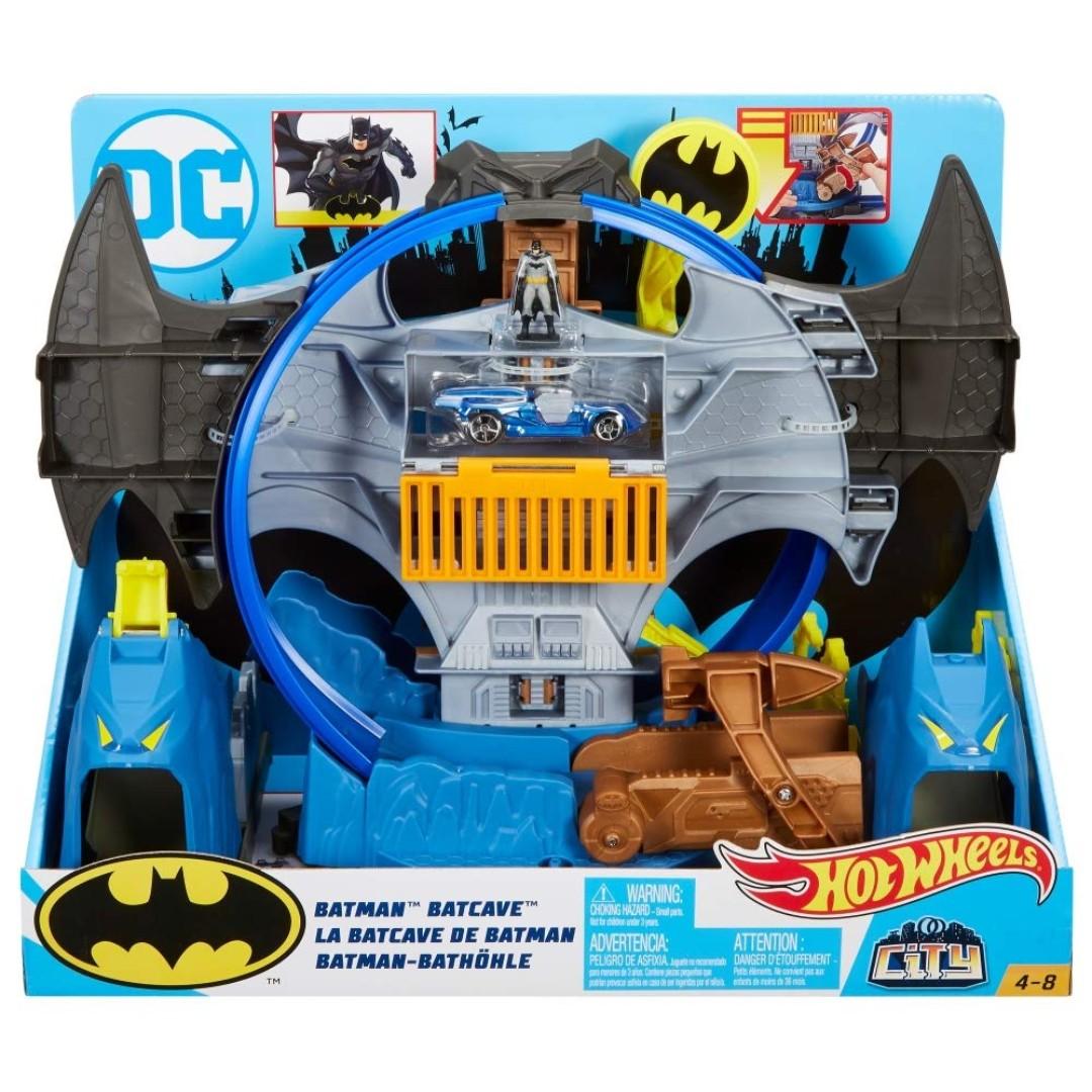 df5f7c6b1467 Hot Wheels City Batman Batcave Track Set
