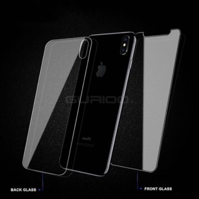 size 40 fb0c6 7715a Iphone X front and back tempered glass protector