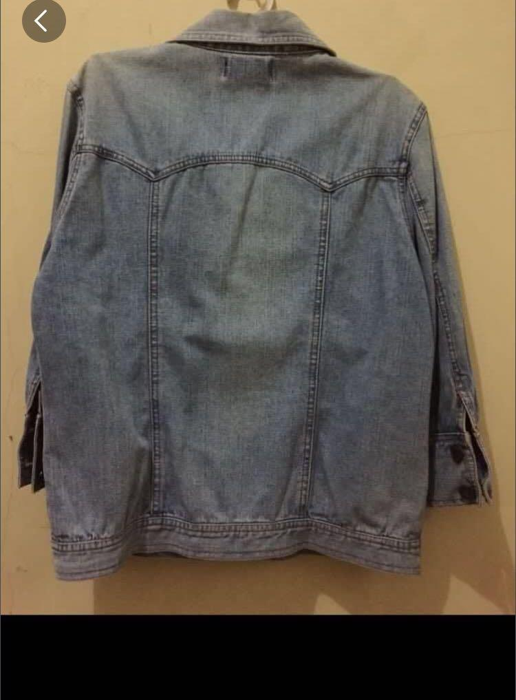 Jaket jeans light blue