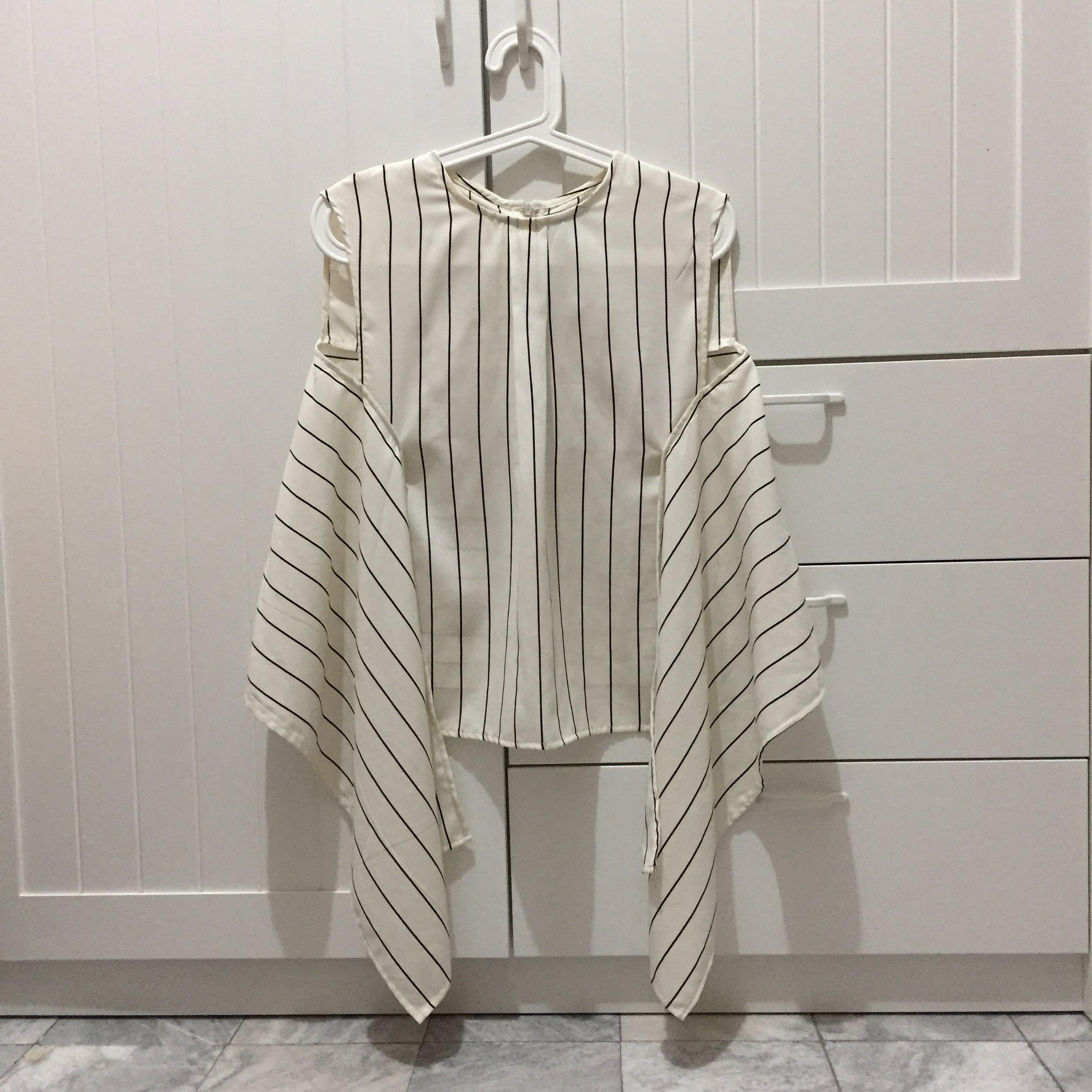 Label eight store label 8 label8 labeleightstore knot tied top striped monochrome