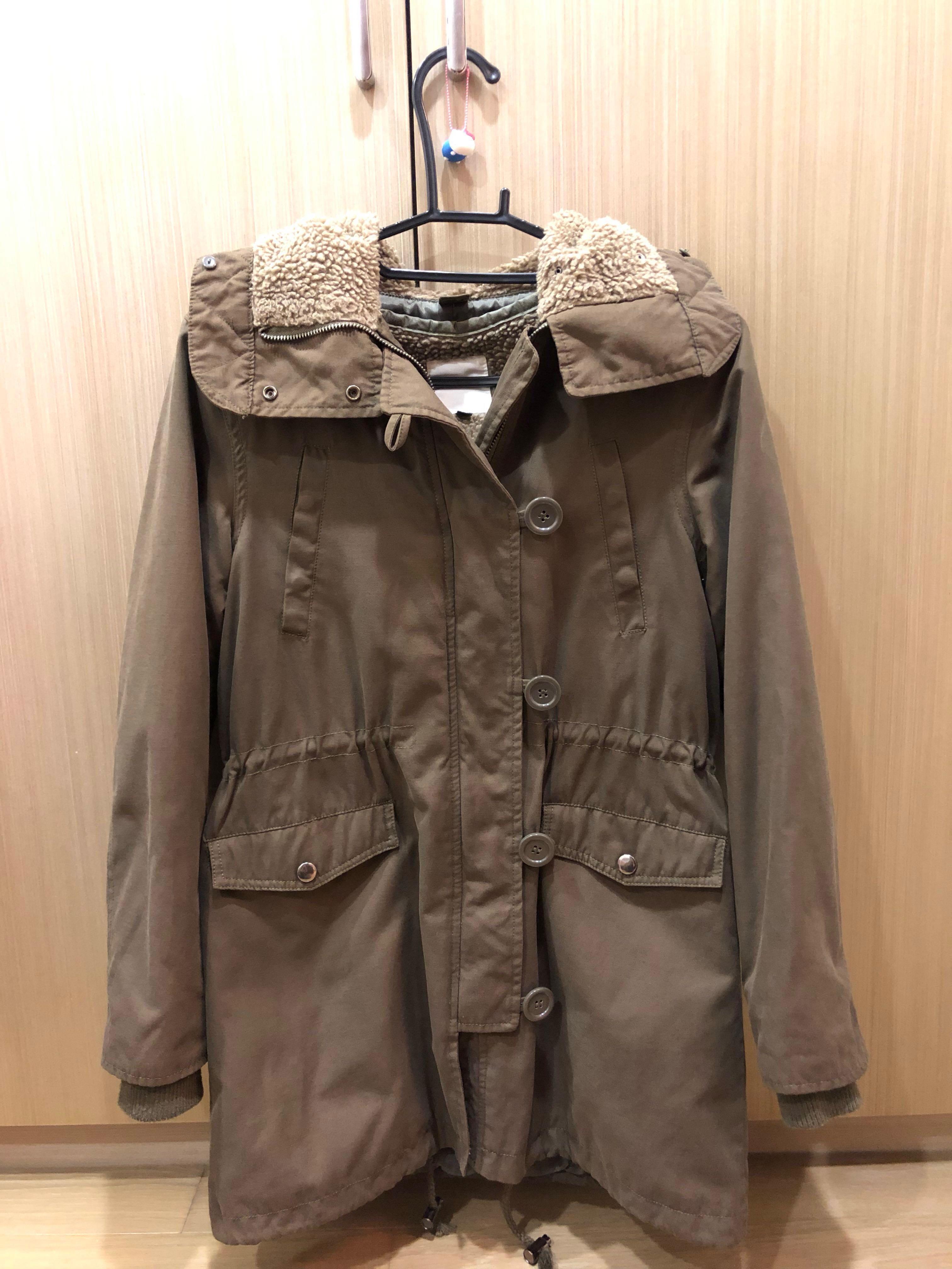 Lowrys Farm 軍綠色 軍外套 大衣 外套 M號 降價~