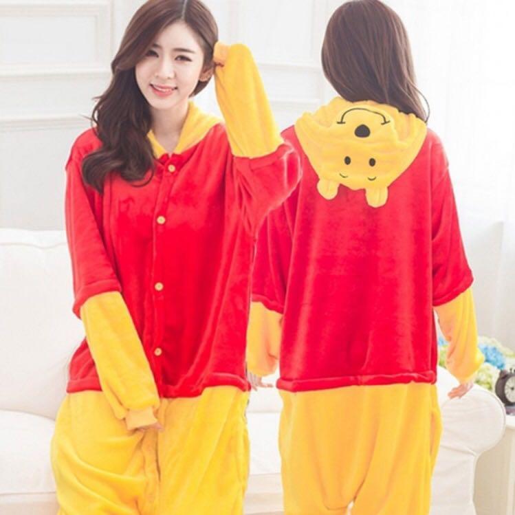 02cc6a73f5d0 PO  Unisex Winnie The Pooh Bear Anime Onesie