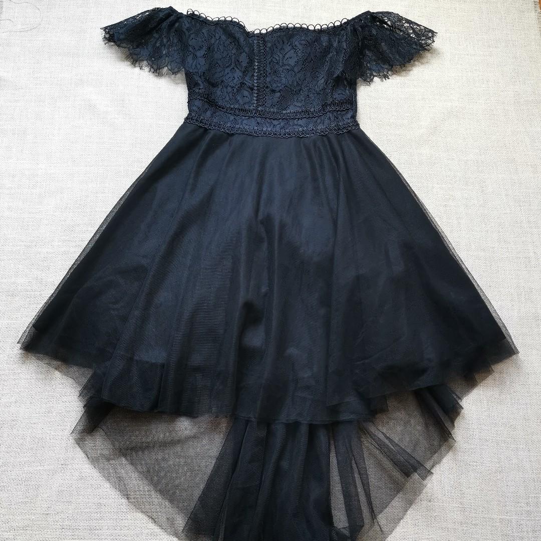 2213f66f81b Premium Little Black Dress Off shoulder Organza Dress