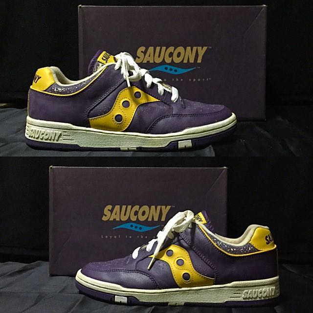 the best attitude 364c5 958d5 Saucony  Hangtime Low  (Purple Yellow), Men s Fashion, Footwear on Carousell