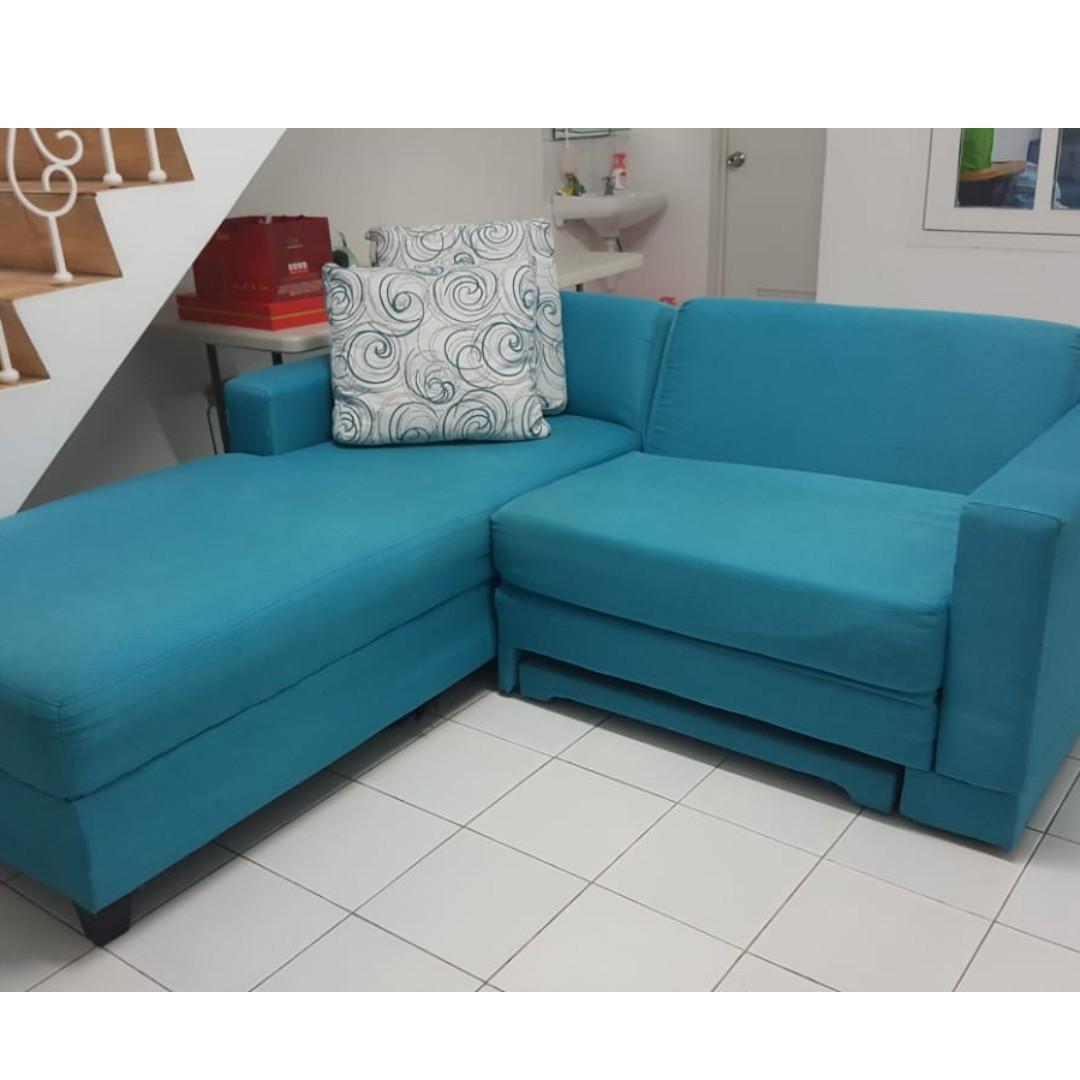 Sofa Tv Lipat Warna Biru Cantiq Bisa Jadi Sofa Bed Home