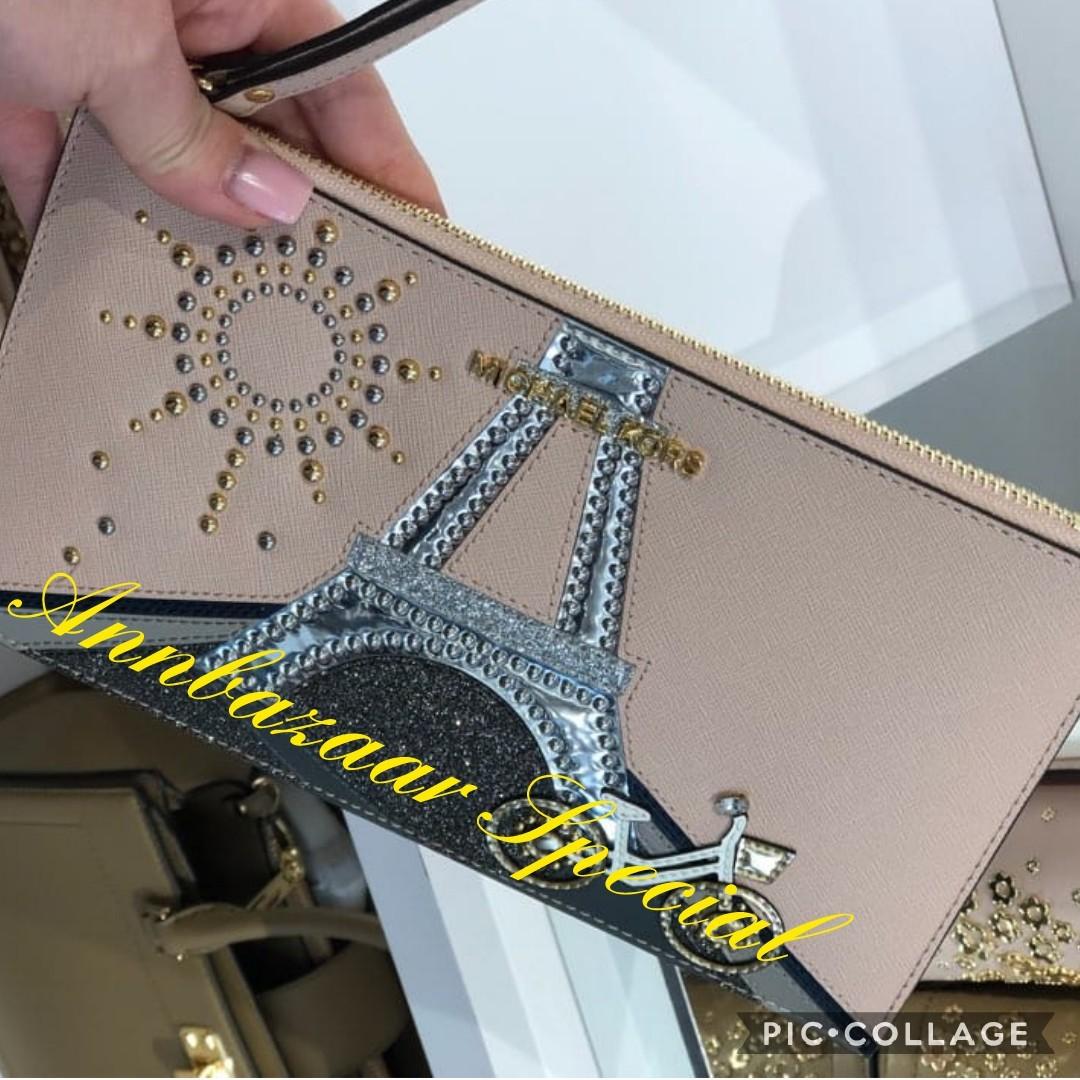 7758e15bdd34 LIMITED EDITION! Michael Kors Nouveau Novelty Zip Clutch Bag (100 ...