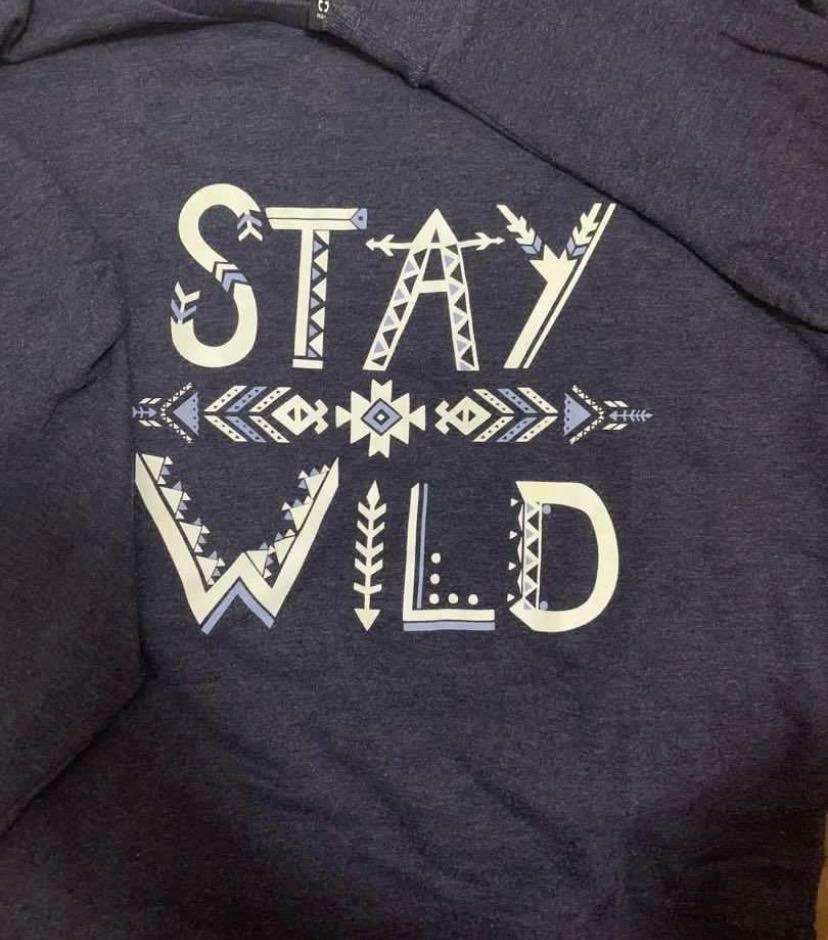 Stay Wild crew neck sweater