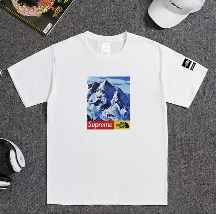 The North Face Supreme T Shirt Men S Fashion Clothes Tops On Carou