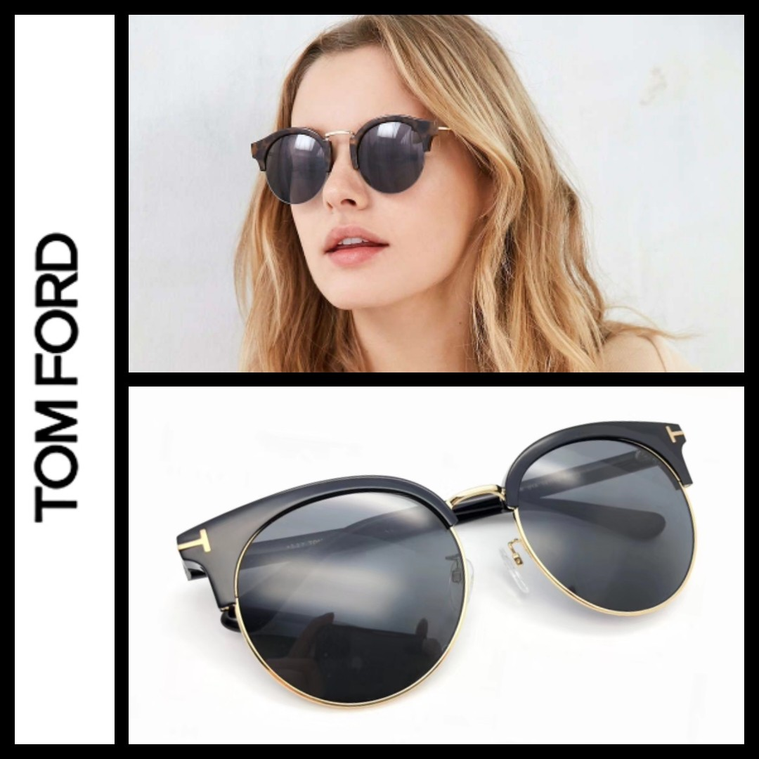 5b4ae6a3880e Tom Ford TF545k vintage half round frame Sunglasses