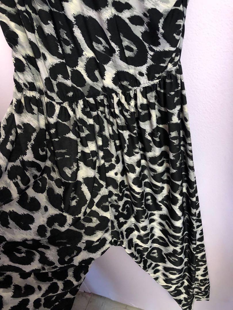 Tube-top printed jumper
