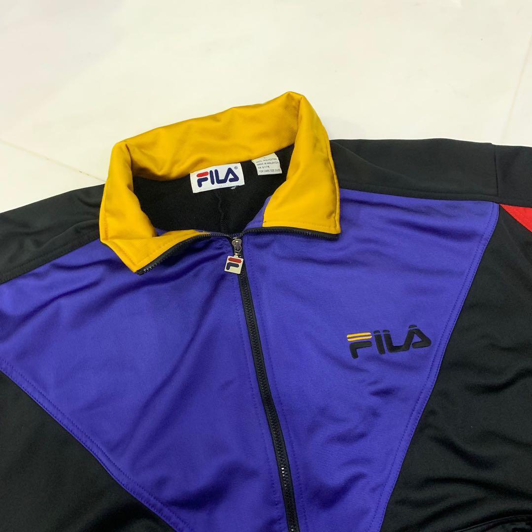 690c64a690b vintage fila colourblock track jacket
