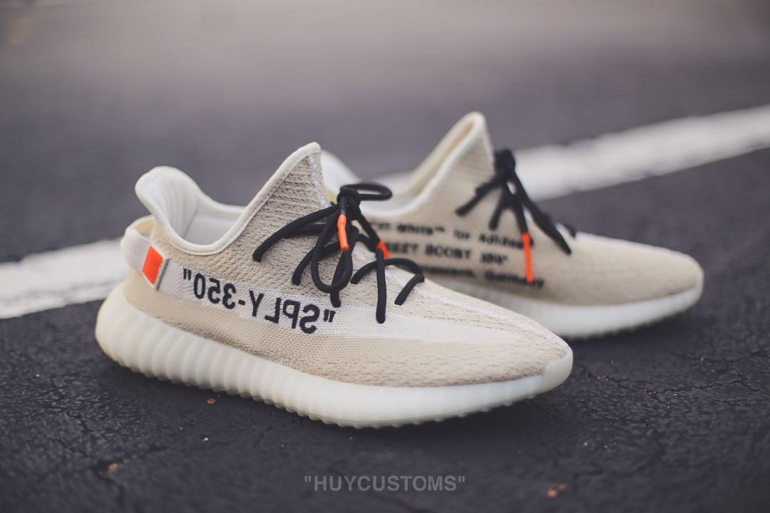 d1d1e7c328658 Yeezy Boost 350 V2 OFF WHITE CUSTOMS