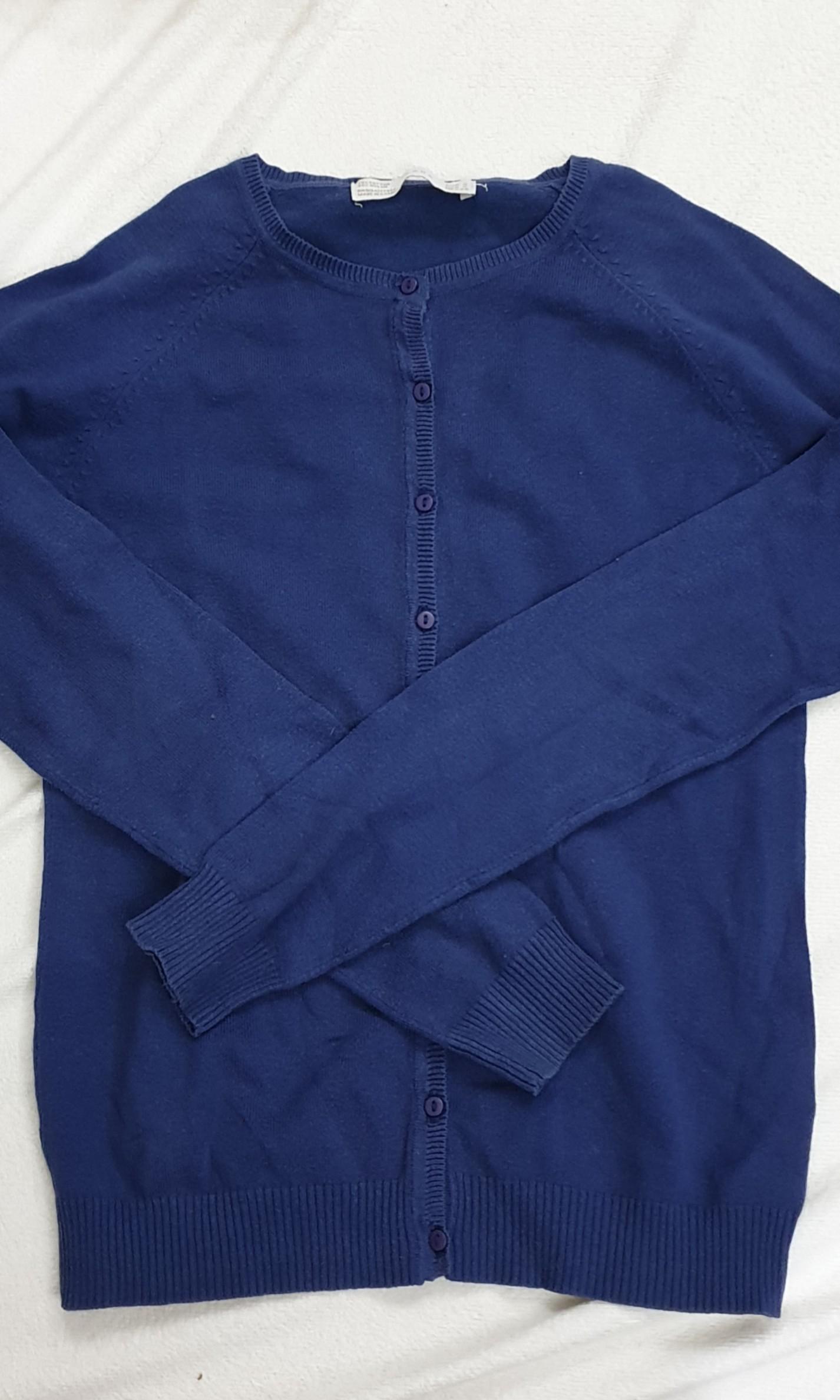 Zara blue cardigan
