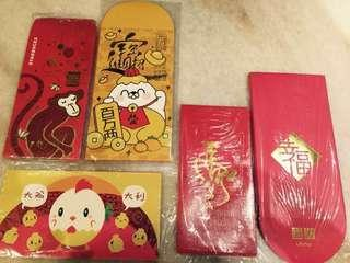 Zodiac Red Packets (a set of 5) #rare #collectibles #angpow