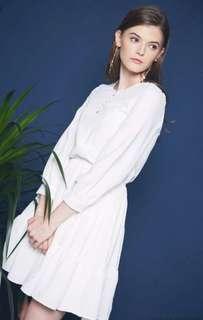 🚚 BNIB HH White Virya Flouncy Dress