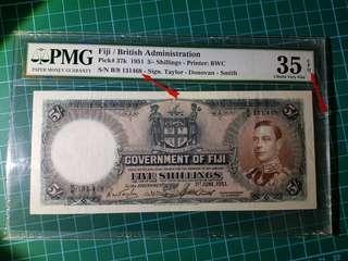 Fiji 1951 5 shillings pmg 35 epq